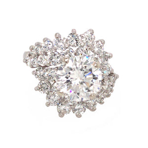 GIA Certified 3.12 ct Round Brilliant Diamond Ring