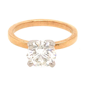 GIA Certified 1.51 Carat Round Diamond Engagement Ring