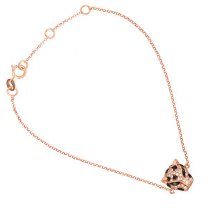 EFFY 14k Rose Gold Diamond and Tsavorite Panther Bracelet