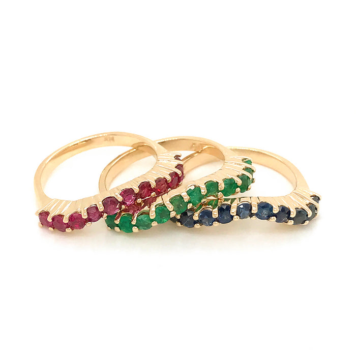 14k Yellow Gold Nesting Rings (Stackable)