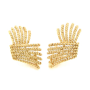 Tiffany and Co. 18k Yellow Gold Schlumberger Earrings