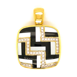 Asch Grossbardt 14K Yellow Gold Diamond Pendant