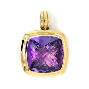 David Yurman Cable Amethyst Pendant Enhancer