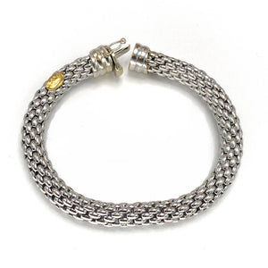 18k White Gold Fope Flex It Bracelet