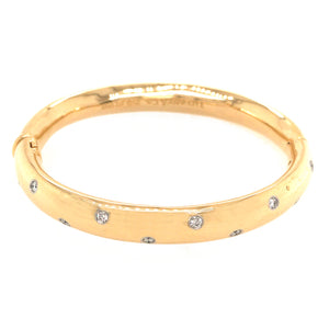 Tiffany and Co. Etoile Diamond Vintage Bangle Bracelet