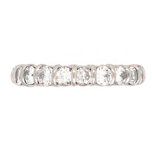 14k White Gold Bar-Set Diamond Eternity Band Ring
