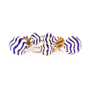 David Webb 18K Yellow Gold Cufflinks and Shirt Studs Set