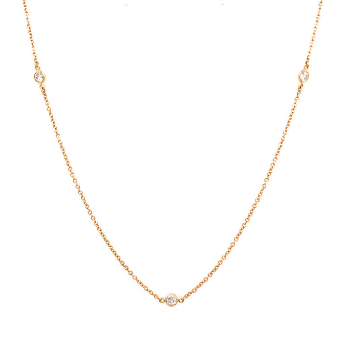 Tiffany and Co. Elsa Peretti Diamond By The Yard Necklace