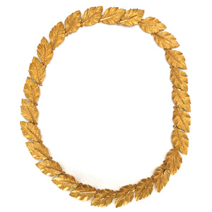 Buccellati 18k Yellow Gold Leaf Necklace