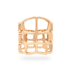 Hermes 18K Yellow Gold  Niloticus Ombre Ring