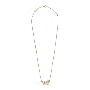 Van Cleef & Arples 18K Yellow Gold Diamond Butterfly Necklace Length: 15.5""