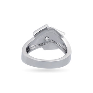 Cartier 18K White Gold Diamond Wrap Ring Size: 5.25