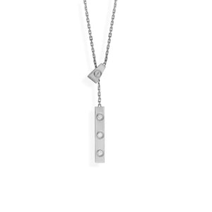Cartier 18K White Gold Diamond Love Lariat Necklace Length: 18""