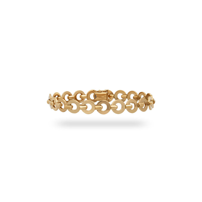Chanel 18K Yellow Gold Circle Link Bracelet Length: 7""