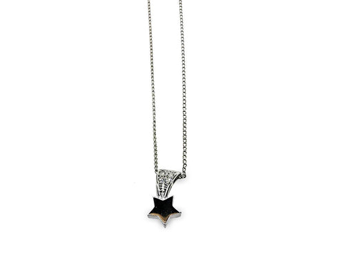 Christian Dior Platinum Diamond Star Necklace Length: 15""