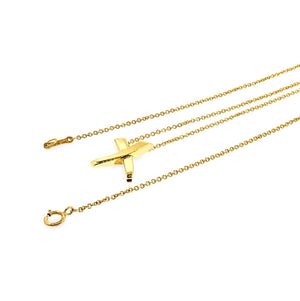 "Tiffany & Co. 18K Yellow Gold ""X"" Necklace Length: 16"""