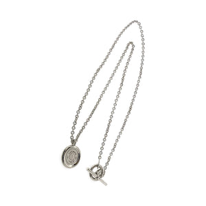 Hermes 18K White Gold Serie Necklace Length: 16""