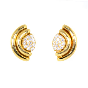 Bvlgari 18K Yellow Gold Vintage Diamond Earrings