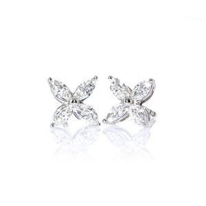 Tiffany & Co. Platinum Victoria Diamond Earrings