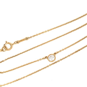 Tiffany and Co. Elsa Peretti 18k Yellow Gold Diamond by the Yard Necklace