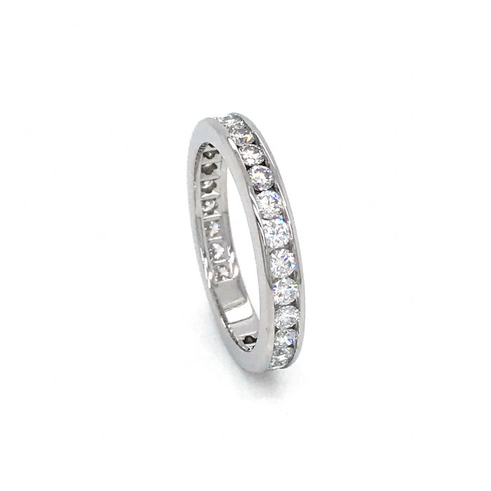 Tiffany and Co. Platinum Diamond Channel Wedding Ring