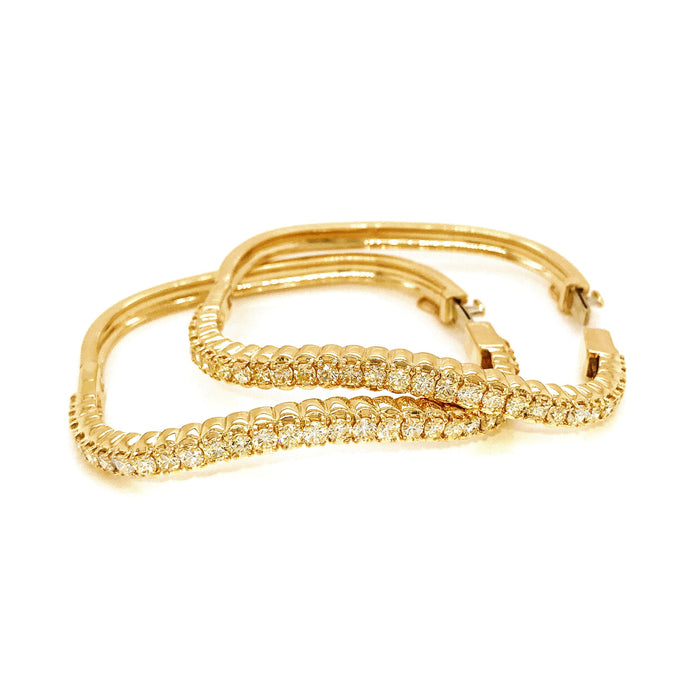 Gold Diamond Nesting Bangle Bracelets 14K