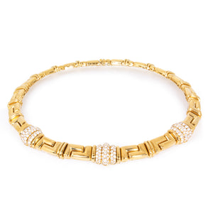 Bvlgari 18K Yellow Gold Vintage Diamond Necklace