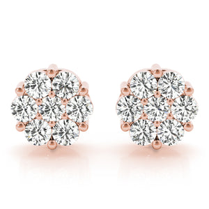Elegant Diamond Cluster Earrings