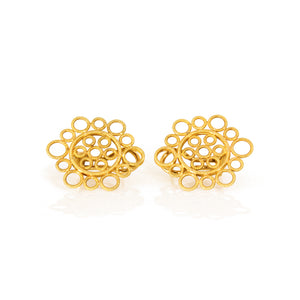 Estate Buccellati Vintage 18K Yellow Gold Circles Earrings