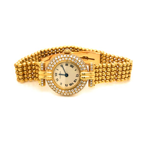 Cartier 18K Yellow Gold and Diamond Colisee Women's Watch