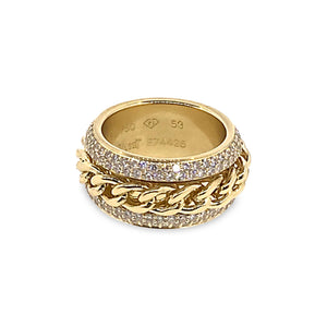 Piaget 18K Yellow Gold Diamond Ring Size: 6