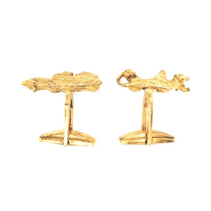 14K Yellow Gold Bull and Bear Cufflinks