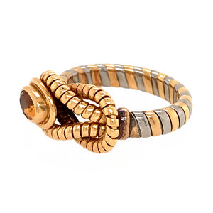 Cartier Rare Two-Tone Gold with Citrine Hercules Knot Ring