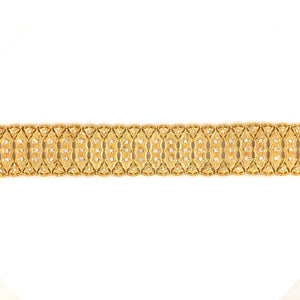 Stunning 18k Yellow Gold Mesh Style Diamond Bracelet
