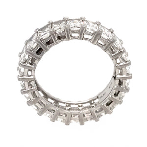 Platinum Radiant Cut Eternity Band