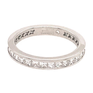 DeBeers Platinum Princess Cut Diamond Band Ring