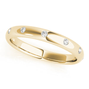 Lucky 7 Diamonds Stackable Ring in Yellow Gold