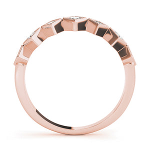Rose Gold and Diamond Stackable Ring