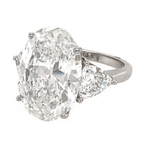 GIA Certified 10.02 Carat Oval Cut Diamond Ring