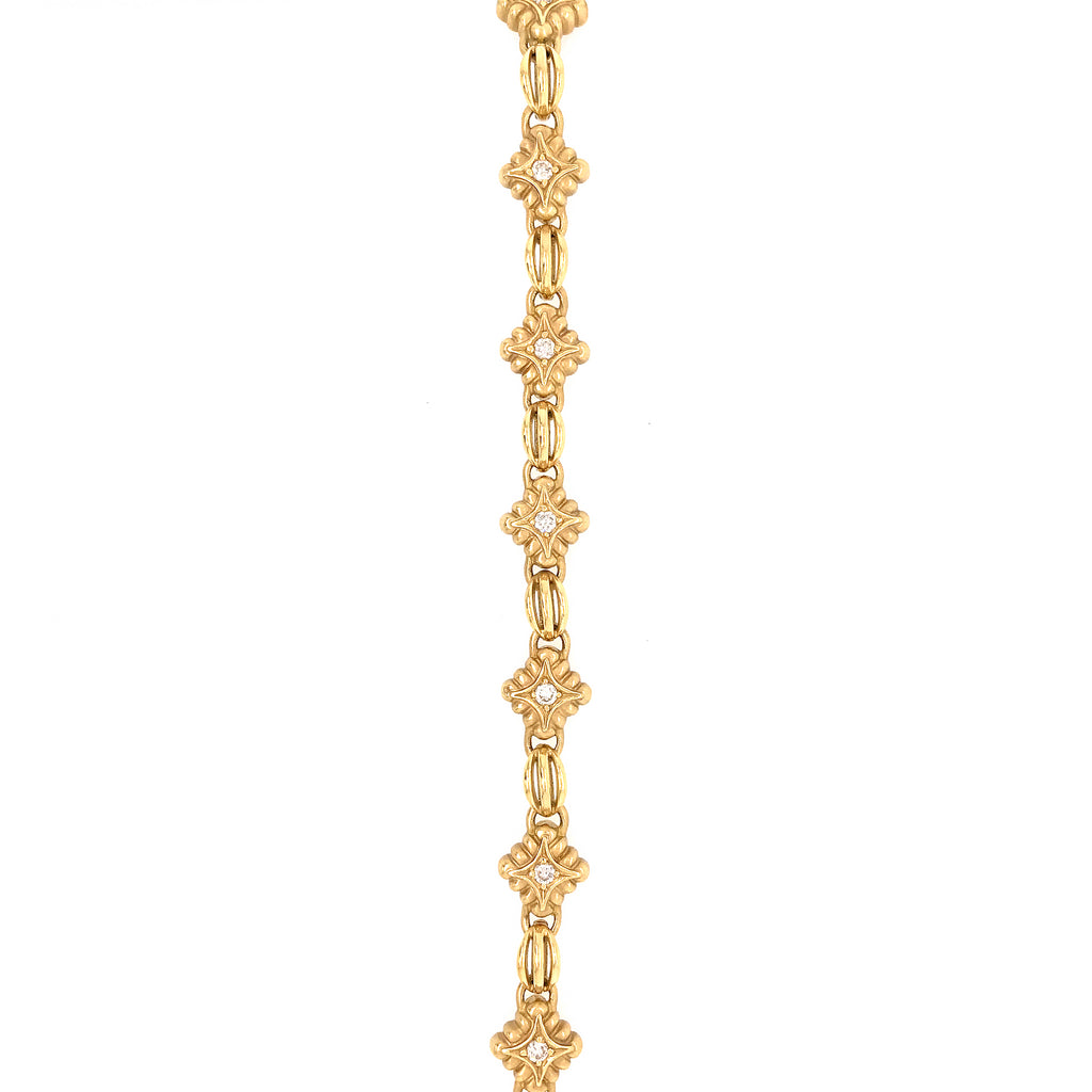 DeMerini 18k Yellow Gold Diamond Bracelet