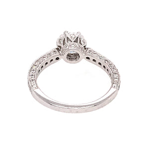 EGL Certified Platinum 1.00 Carat Diamond Engagement Ring