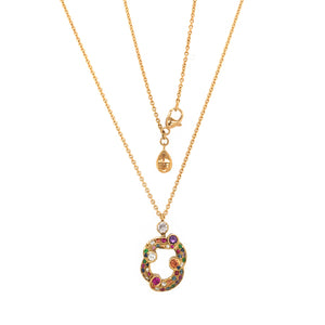 Fabergé Rococo 18 Karat Yellow Gold Multicolored Pendant Necklace