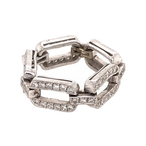 Chain Link Flexible Diamond Ring