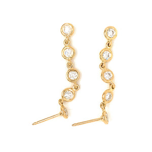 Fab Drops 18k Yellow Gold Diamond Drop Earrings