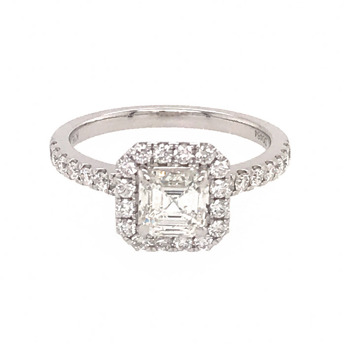 GIA Certified Ascher Cut Diamond Engagement Ring