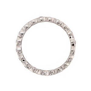 14k White Gold Bezel Set Diamond Eternity Band Ring