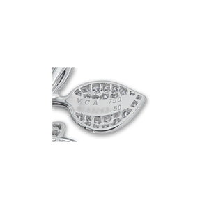 Van Cleef & Arpels 18K White Gold Diamond Double Finger Ring Size 5.5