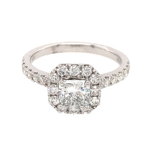 GIA Certified Princess Cut Diamond Engagement Ring