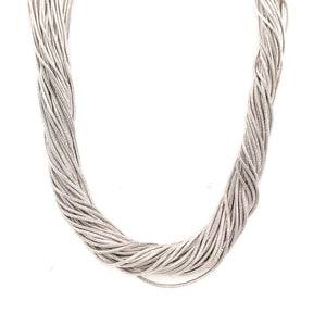 Italian Made Multi-Strand Sterling Silver Necklace