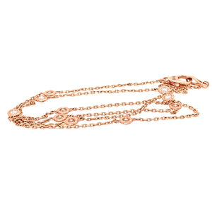 Diamond by the Yard 14k Rose Gold Necklace